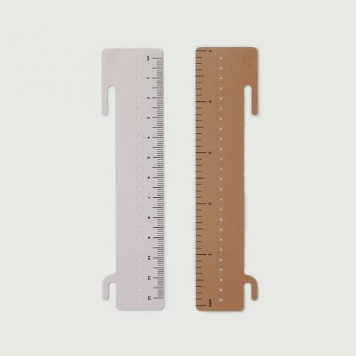 spiral notebook ruler