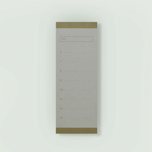 Daily Planner- Brown color